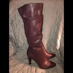 NWT Plum Colored Heeled Boots